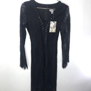 3984c47f40 Alice   You Dresses - NWT Alice   You Black lace up Maxi Dress ...